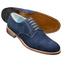Blue suede Millbank Derby shoes   Men's casual shoes from Charles Tyrwhitt   CTShirts.com