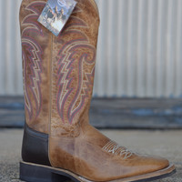 Men's Western Square Toe Boot by Old West