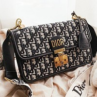 Hipgirls Dior New fashion more letter leather shopping leisure shoulder bag crossbody bag