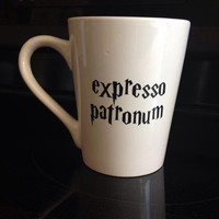 Harry Potter inspired coffee mug for geeks! If coffee is your patronus then this mug is for you!
