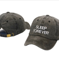 Sleep Forever Embroidered Adjustable Cotton Baseball Golf Sports Cap Hat