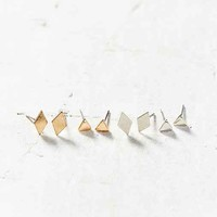 Metal Shapes Post Earring Set