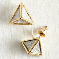 Minimal Dazzle Do the Trick Earrings by ModCloth