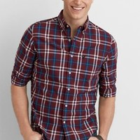 AEO Rustic Button Down Shirt , Grey | American Eagle Outfitters