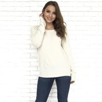 Cozy and Casual Knit Sweater in Oatmeal