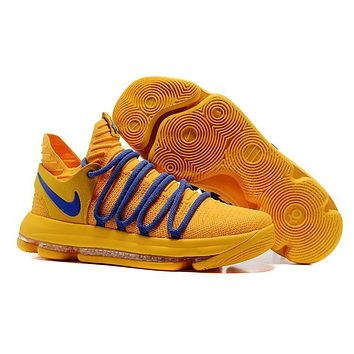 Nike Mens Kevin Durant Kd 10 Warrior Yellow Basketball Shoes | Best Deal Online