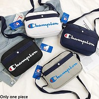 Champion sells women's casual single-shoulder bag with stylized monogram print