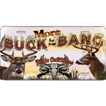 More Buck For Your Bang Embossed Aluminum Car Tag By Dixie Outfitters®