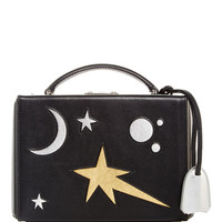 Small Grace Box in Multi Galaxy Cut out leather