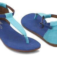 Blue Mix Women's Playa Sandals