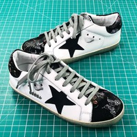 Ggdb Golden Goose Uomo Donna White Black Sneakers Shoes - Best Online Sale