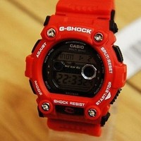 QIYIF G-shock watches (red, blue and brown)