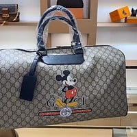 GUCCI x DISNEY graffiti large capacity men and women travel bag