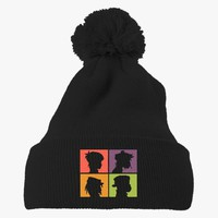 The Gorillaz  Embroidered Knit Pom Cap