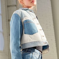 BDG Mix + Match Denim Cropped Trucker Jacket | Urban Outfitters