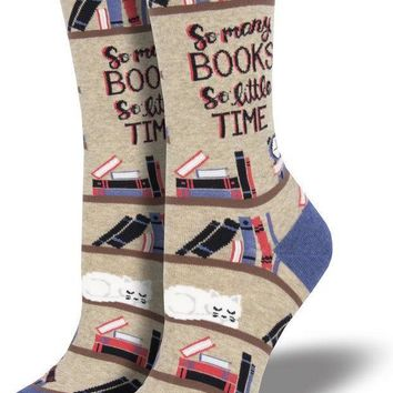 So Many Books So Little Time Women's Crew Socks