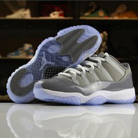 Air Jordan 11 Retro Low Cool Grey AJ11 Sneakers-1