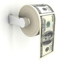 Money Toilet Paper $100 Bill Toilet Paper