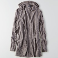 AEO Hooded Pocket Cardigan , Gray