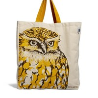 Talented Totes   Talented Totes Cherith Harrison Owl Canvas Tote Bag at ASOS