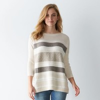 Women's SONOMA Goods for Life Striped Boxy Sweater