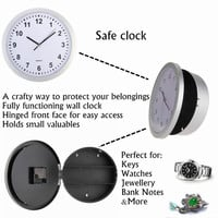 Hidden Secret Wall Clock Safe Money Stash Jewellery Stuff Storage Container Box