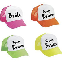 Set Of 4 Bride And Team Bride Bachelorette party Wedding Bridesmaid