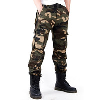 Camouflage Pattern Army Pants