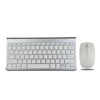 Ouhaobin High Quality Ultra Thin White 2.4G Cordless Wireless Keyboard And Optical Mouse