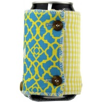 The Lily Koozie in Blue, Green and Yellow by the Frat Collection