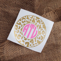 Circle font car sticker Monogram car decal initials monogram sticker car monogram sticker circle decal dots monogram sticker border dots