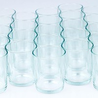 Votive Tea Light Glass Candle Holders - Clear (2.5 Inches) (24 Pack)