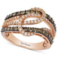 Le Vian Diamond Interlocking Knot Ring in 14k Rose Gold (1 ct. t.w.)