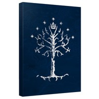 Lord Of The Rings - Tree Of Gondor Canvas Wall Art With Back Board