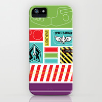 TOY STORY : BUZZ LIGHTYEAR STICKERS KIT iPhone & iPod Case by Marco Lilliu