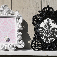 Decorative Baroque Style Framed Magnet Board- Wedding Sign- Table Number-  Super Ornate and very Chic