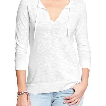 Old Navy Womens Split Neck Sweaters Size M - Bright white