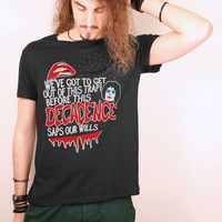 The Rocky Horror Picture Show slogan black tshirt
