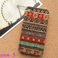 Handmade Fabric iPhone 5 Case, floral iPhone 4 Case, iPhone 4s Case, Fabric iPhone Case 4 4s 5,Pattern Style iPhone Case