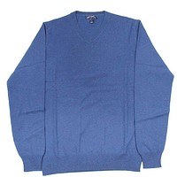 Cashmere V-Neck Sweater in Navy by Michael's