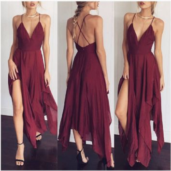 2017 New Arrival Summer Women Ladies Boho Long Evening Party Ladies Casual Beach Dress Sundress Vestido De Festa