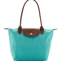 Longchamp Le Pliage Medium Shoulder Tote Bag, Blue
