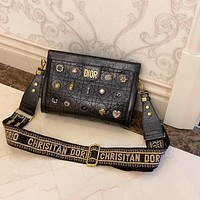 Dior 2020 New Studded Women's Handbag Shoulder Bag Crossbody Bag