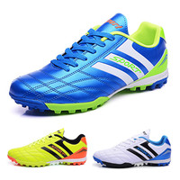 quality guaranteed men football shoes TF nail soccer shoes for teenagers boys trainers HG outdoor soccer cleats