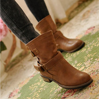 New Woman Ladies Shoes Zapatos Mujer Chaussure Women Boots Ankle Boots Bota Riding Boots Casual Ladies Martin Boots Q213
