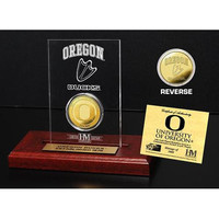 University of Oregon  24KT Gold Coin Etched Acrylic