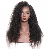 Attractive Curly Lace Front Human Hair Wigs