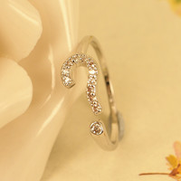Cute Question Mark Open Ring A021