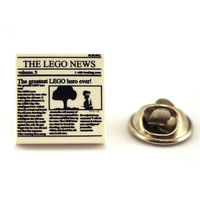 It's 'The LEGO News' Read all about it ,Tie Pin, Tie Tack Pin, Tie Tacks, Tie Tac, Silver Tie Clip, Tie Clips Men, Wedding Clip, Tie Tack
