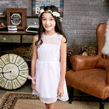 Ethereal Dotted Mesh Dress (toddler/girl)